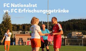 Revanche geglückt: hauchdünner Sieg gegen den FC Nationalrat